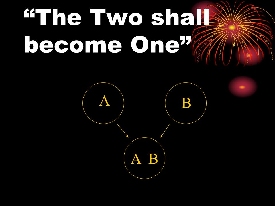 The Two shall become One