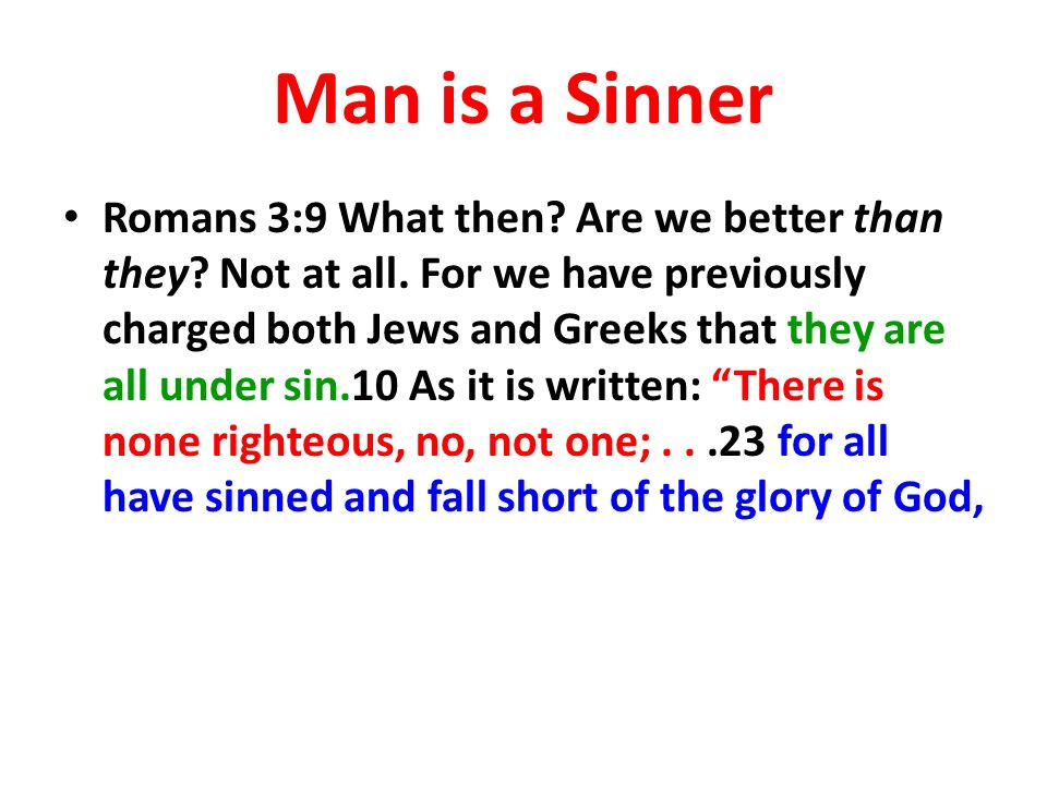 Man is a Sinner
