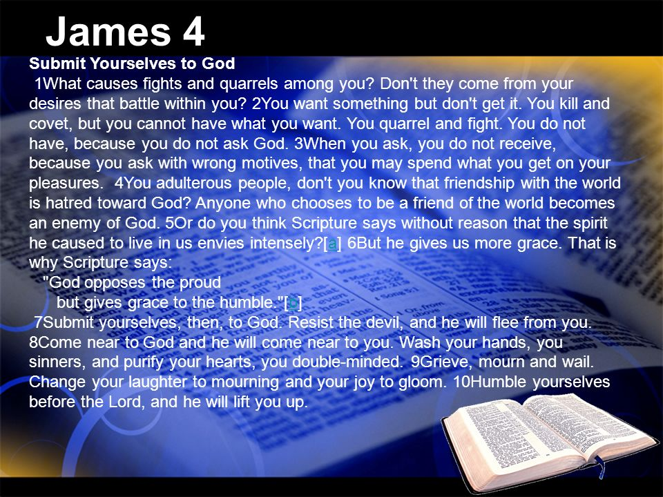 James 4 Submit Yourselves to God
