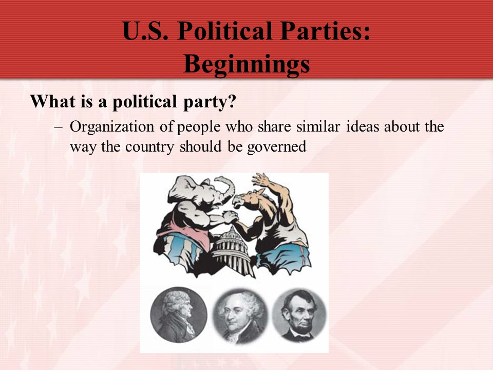 U.S. Political Parties: Beginnings
