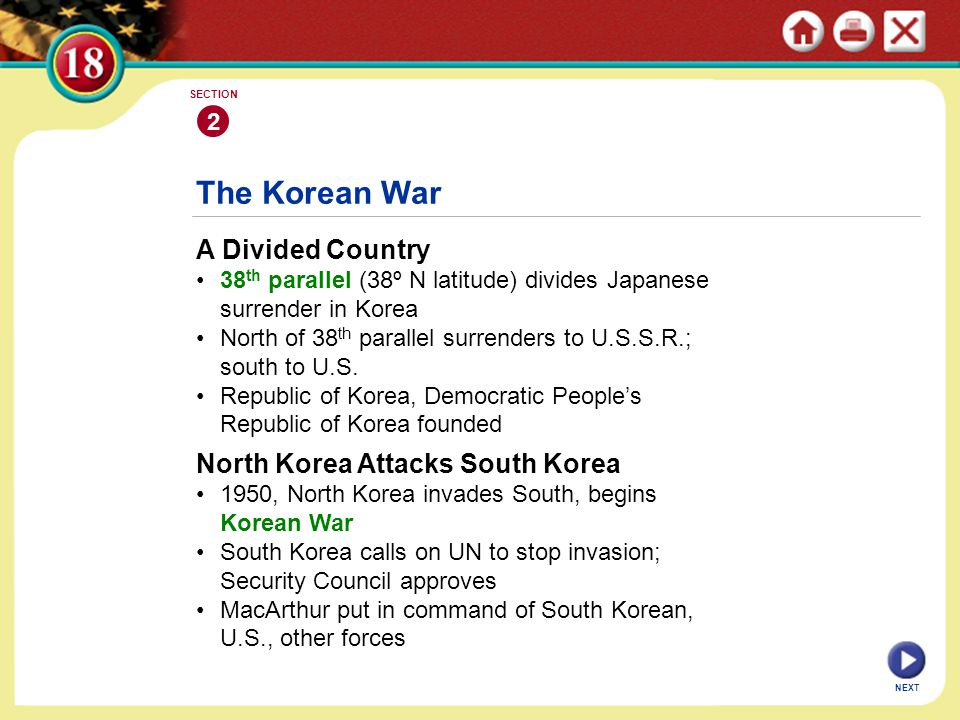 The Korean War A Divided Country North Korea Attacks South Korea 2