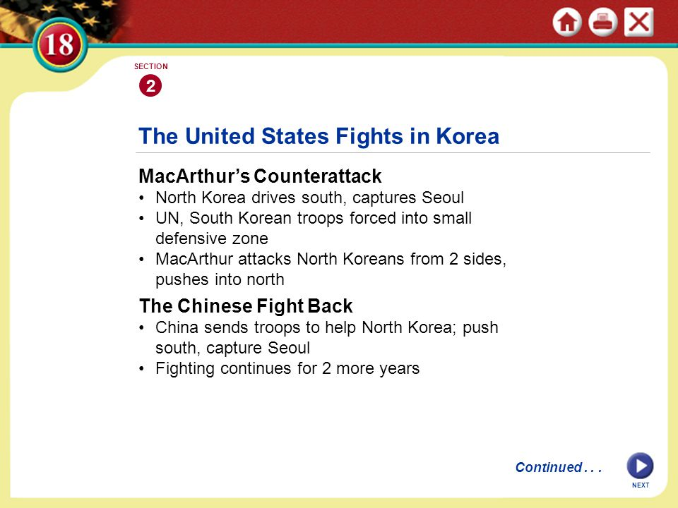 The United States Fights in Korea