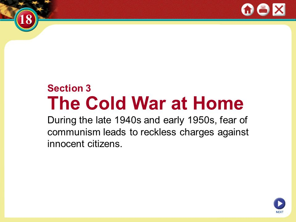 The Cold War at Home Section 3