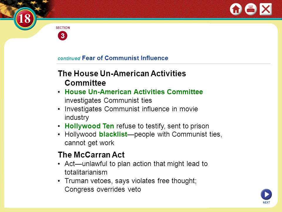 The House Un-American Activities Committee