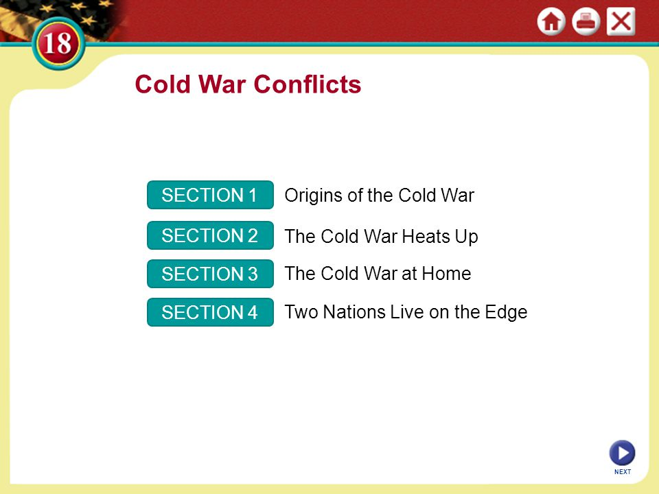 Cold War Conflicts SECTION 1 Origins of the Cold War SECTION 2