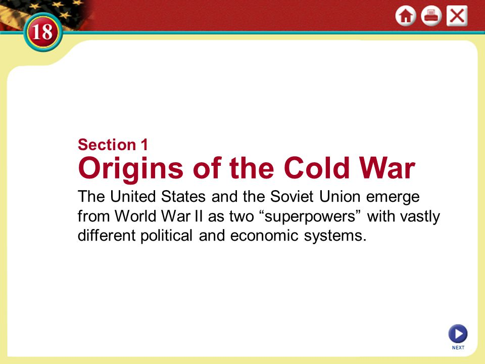 Origins of the Cold War Section 1