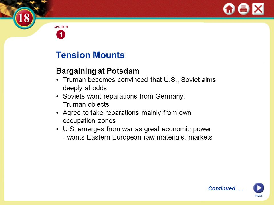 Tension Mounts Bargaining at Potsdam 1