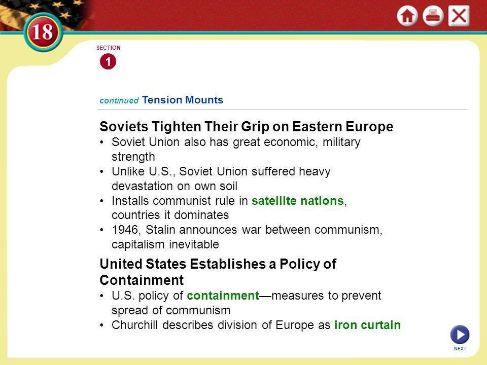 Soviets Tighten Their Grip on Eastern Europe