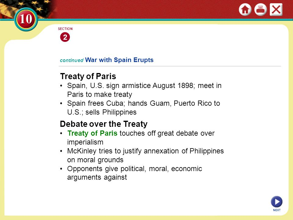 Treaty of Paris Debate over the Treaty 2