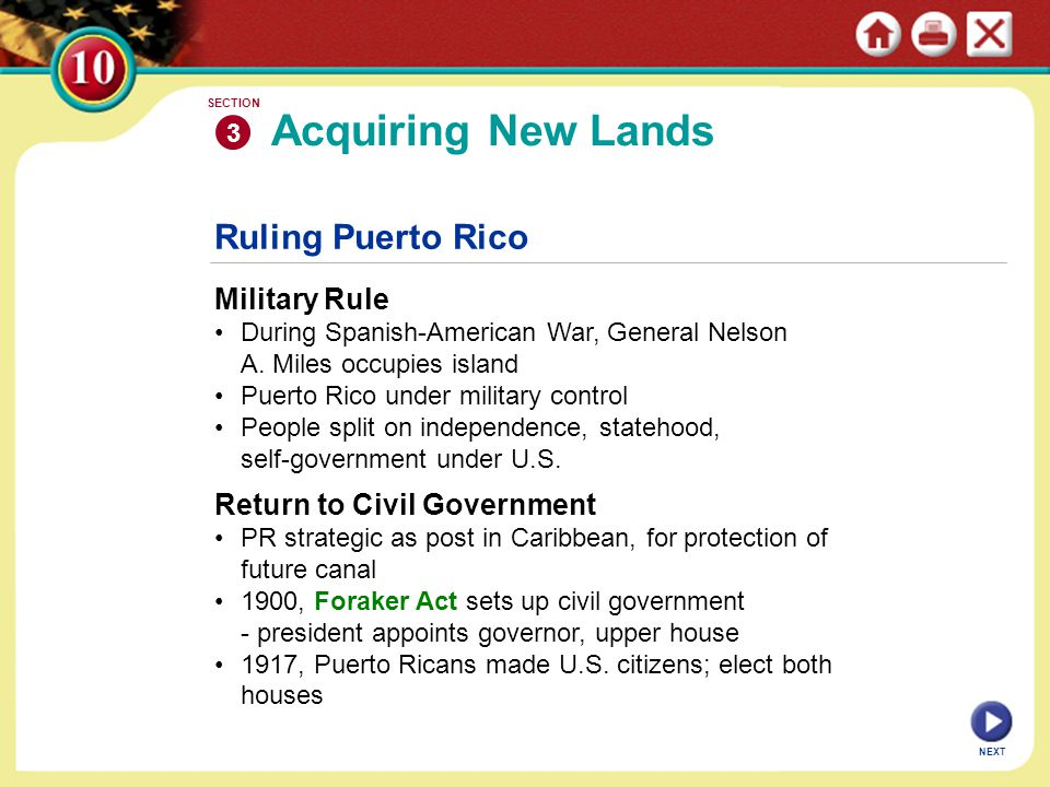 Acquiring New Lands Ruling Puerto Rico Military Rule