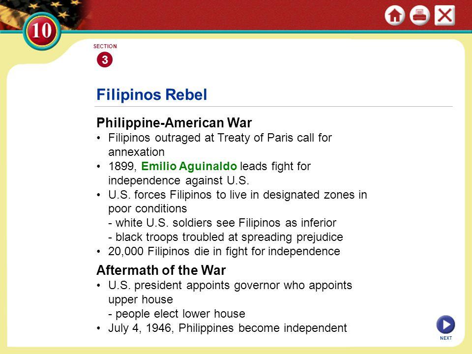 Filipinos Rebel Philippine-American War Aftermath of the War 3