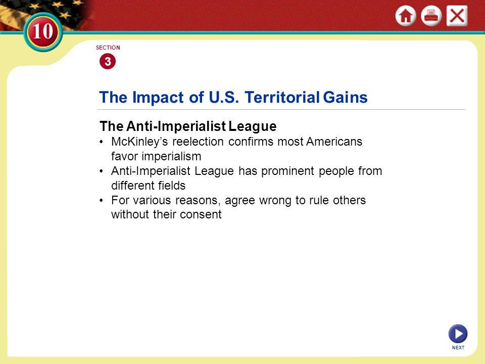 The Impact of U.S. Territorial Gains