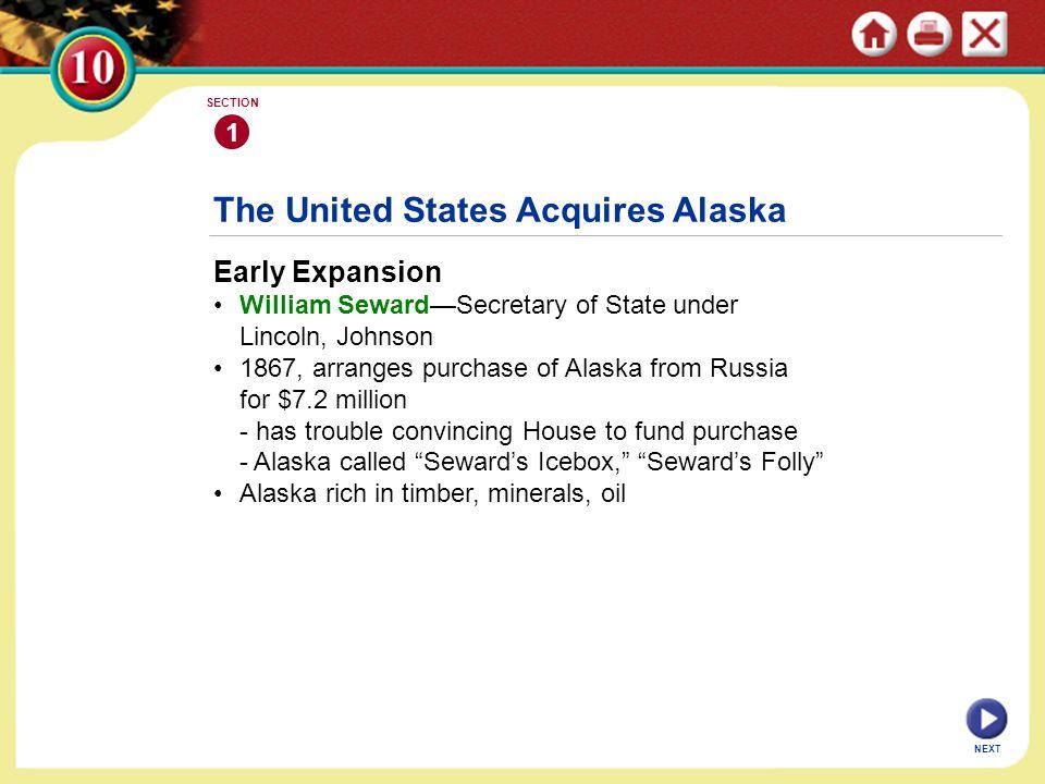 The United States Acquires Alaska