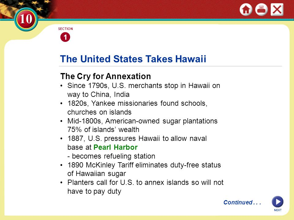 The United States Takes Hawaii