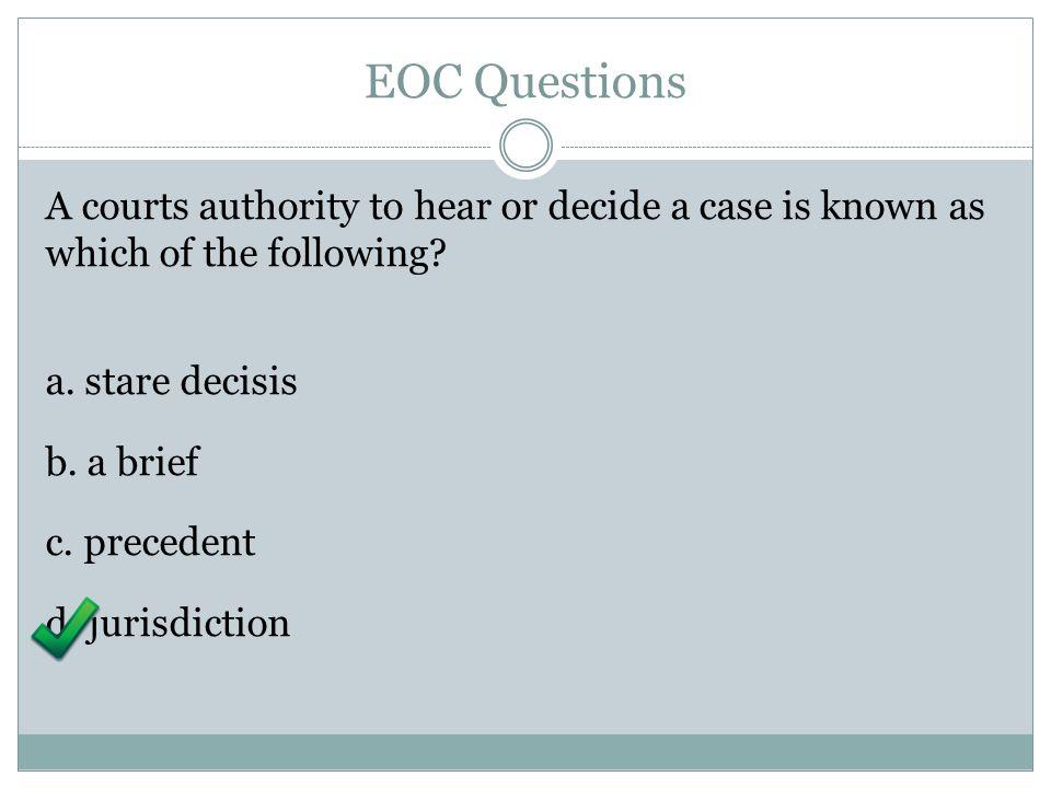 EOC Questions