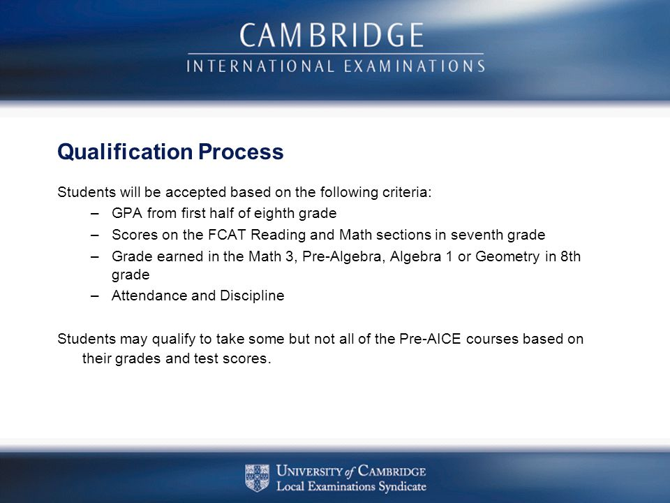 Qualification Process