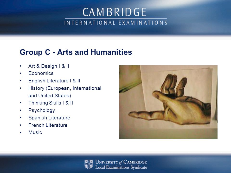 Group C - Arts and Humanities
