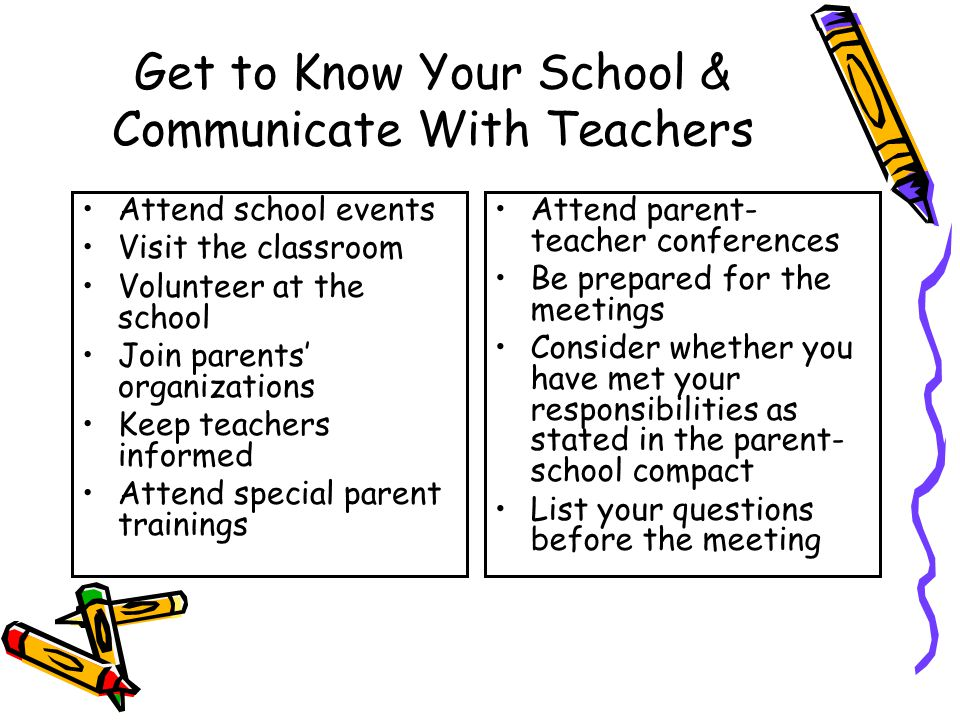 Get to Know Your School & Communicate With Teachers