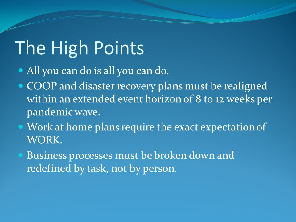 The High Points All you can do is all you can do.