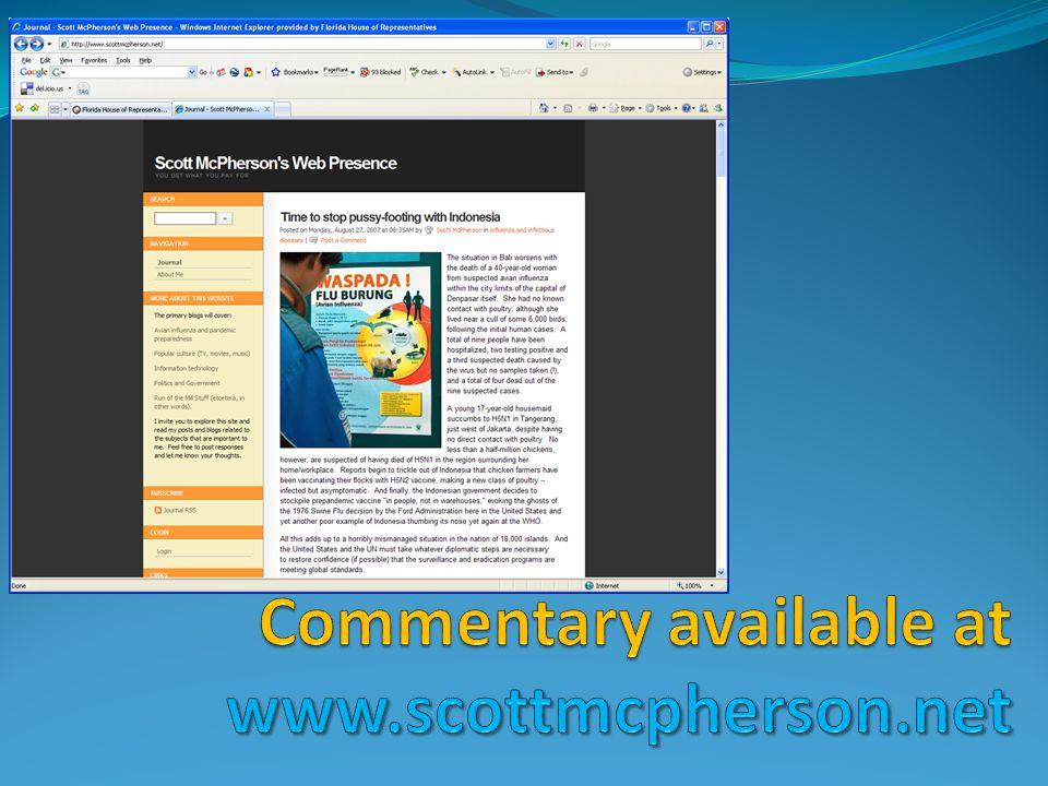 Commentary available at www.scottmcpherson.net
