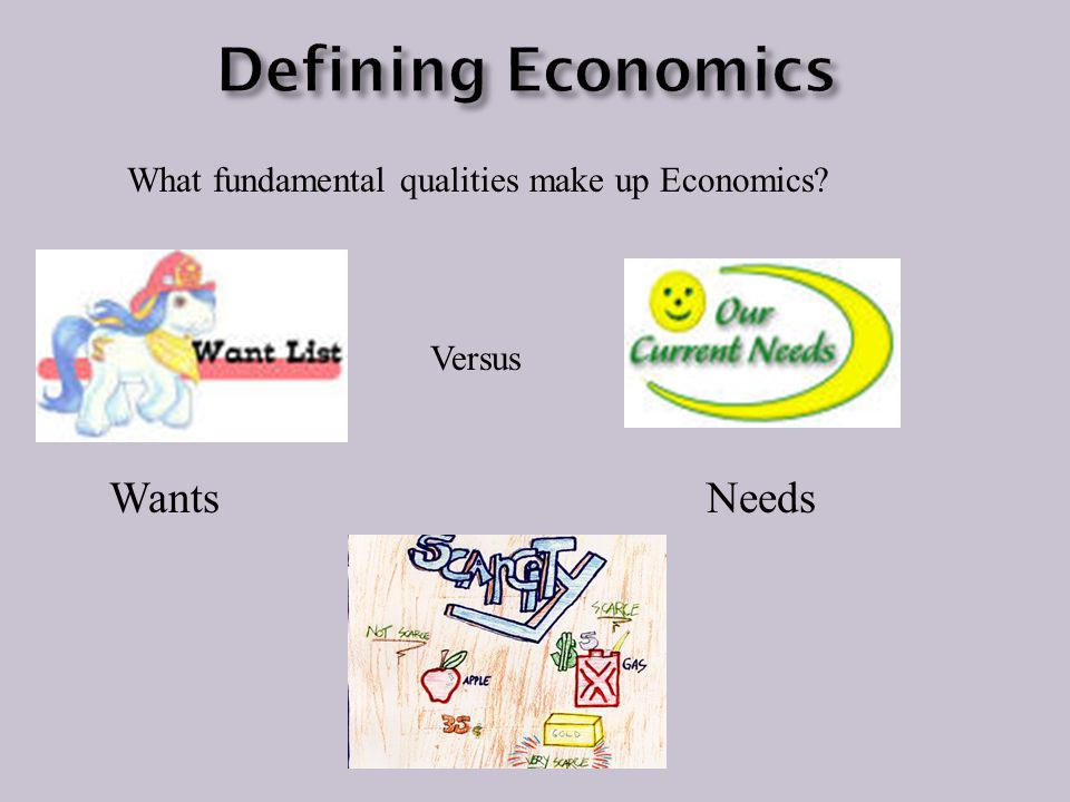 Defining Economics Wants Needs