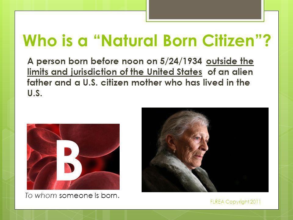 Who is a Natural Born Citizen