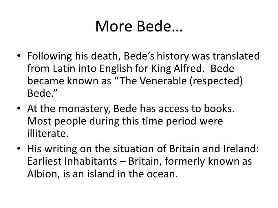 More Bede…