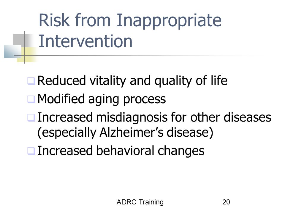 Risk from Inappropriate Intervention