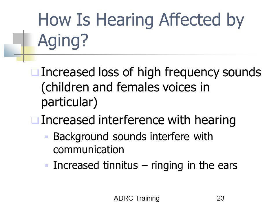 How Is Hearing Affected by Aging