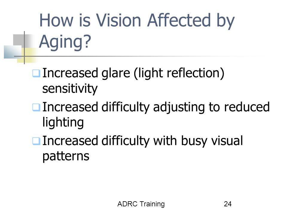 How is Vision Affected by Aging