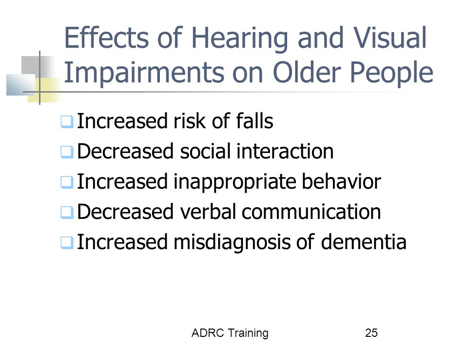 Effects of Hearing and Visual Impairments on Older People