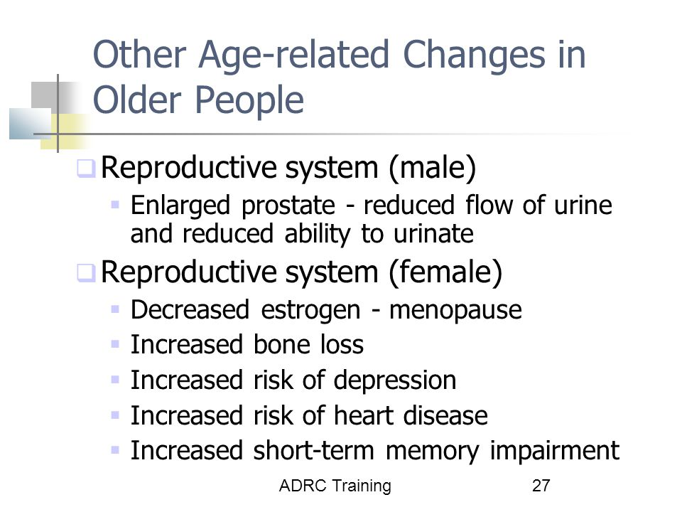Other Age-related Changes in Older People