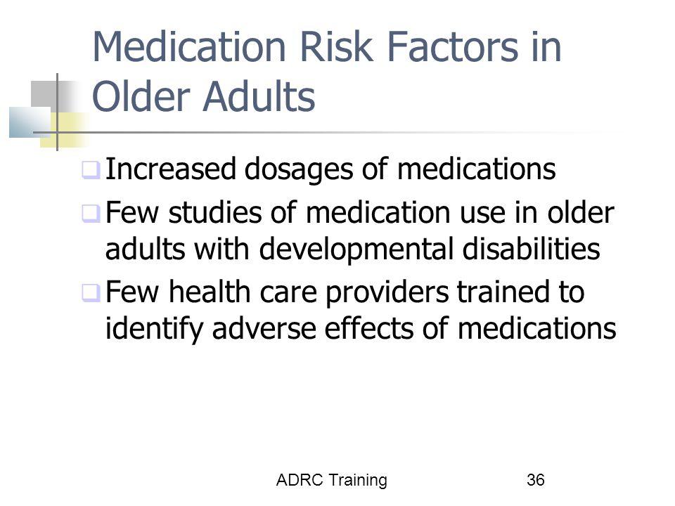 Medication Risk Factors in Older Adults