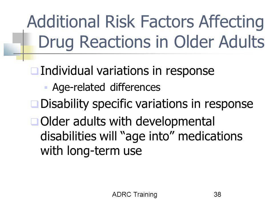 Additional Risk Factors Affecting Drug Reactions in Older Adults