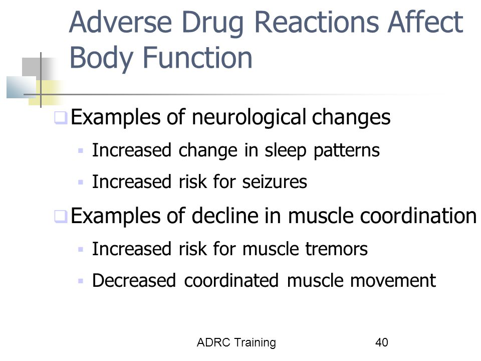 Adverse Drug Reactions Affect Body Function