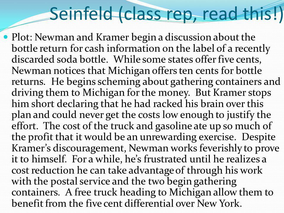 Seinfeld (class rep, read this!)