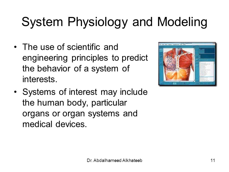 System Physiology and Modeling
