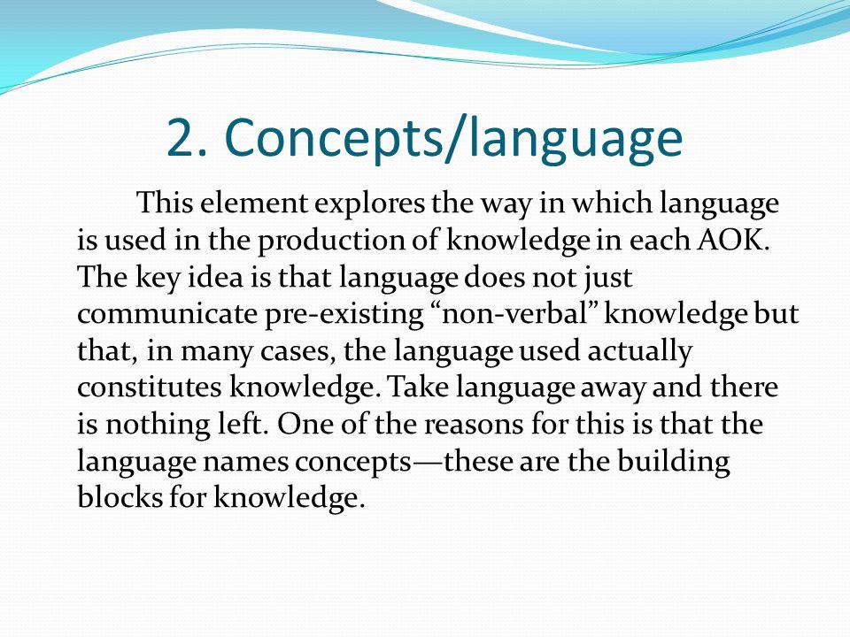 2. Concepts/language