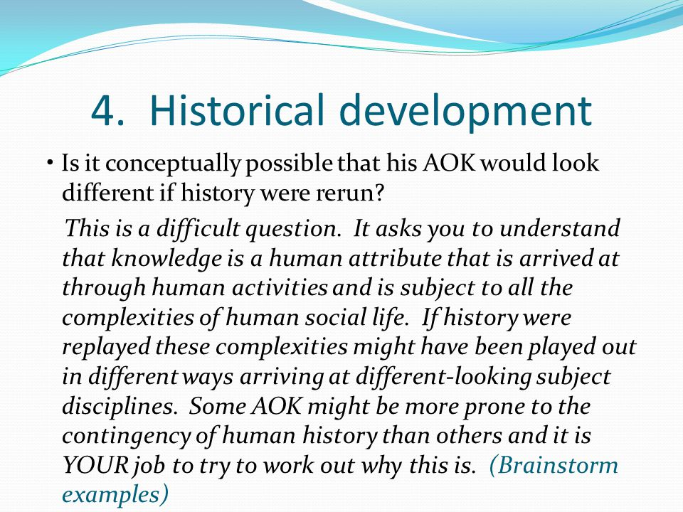 4. Historical development