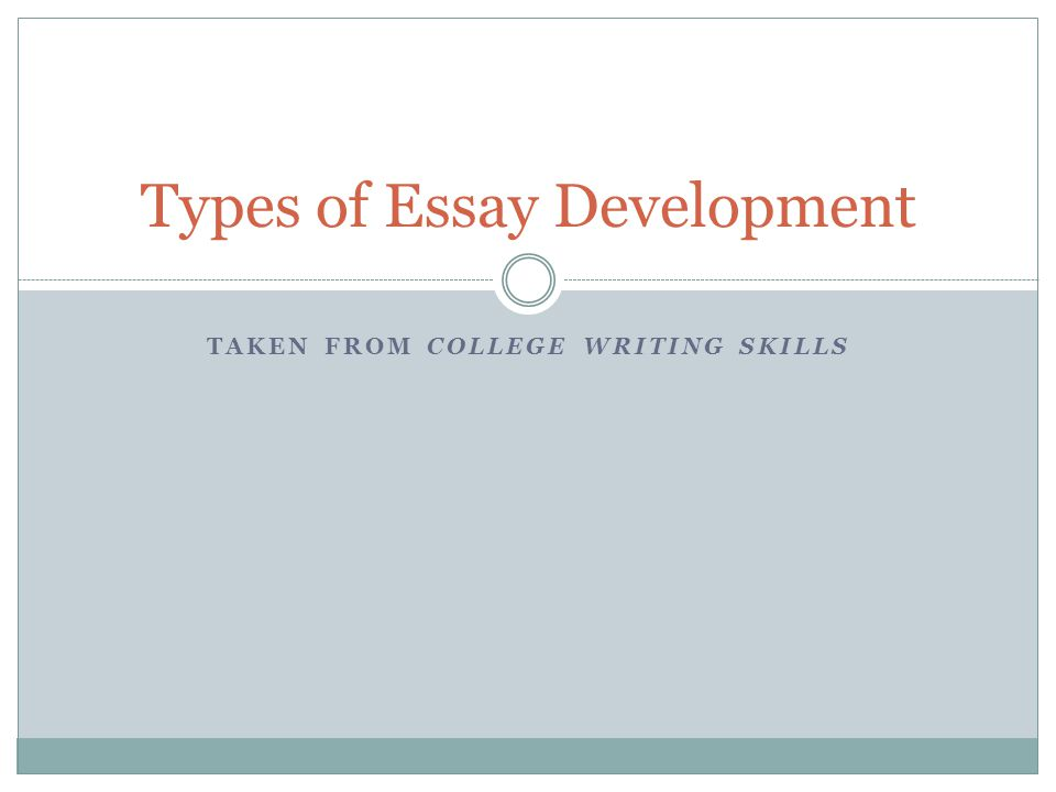 Essay Sample For High School Types Of Essay Development Science Fiction Essay Topics also American Dream Essay Thesis Types Of Essay Development  Ppt Video Online Download Good English Essays Examples