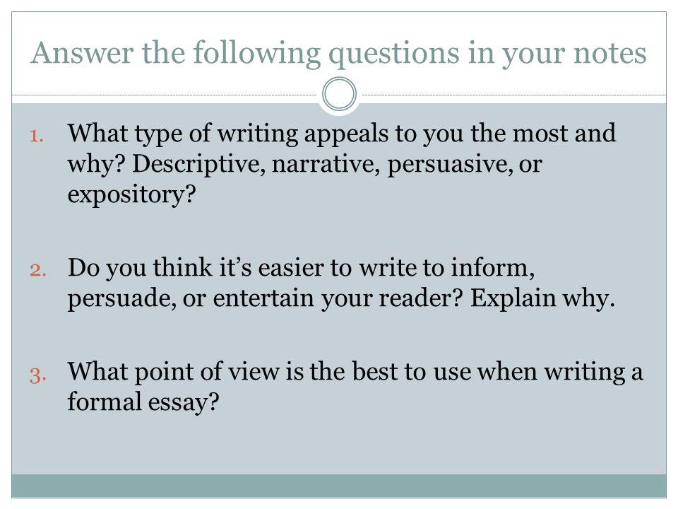 types of essay development ppt video online  10 answer