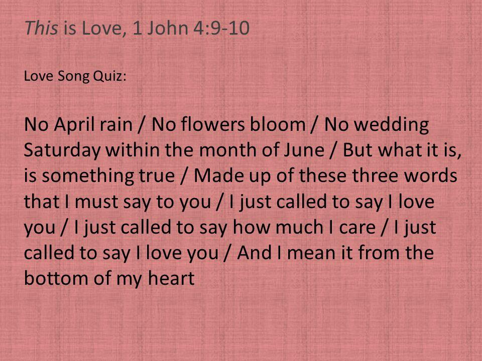 No April rain / No flowers bloom / No wedding