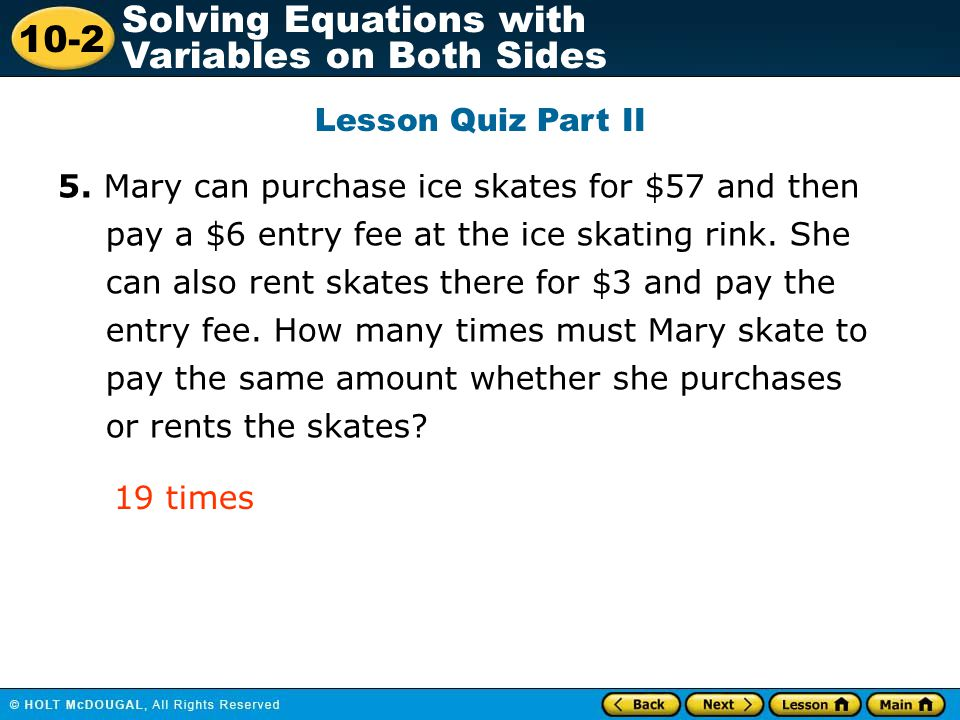 Lesson Quiz Part II