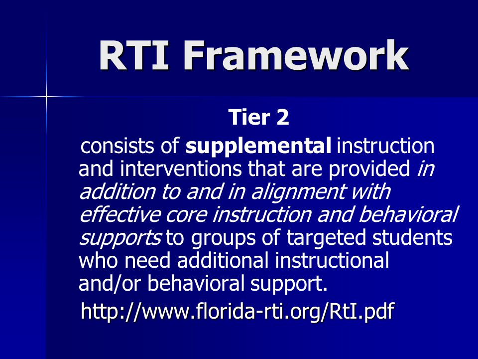 RTI Framework Tier 2.