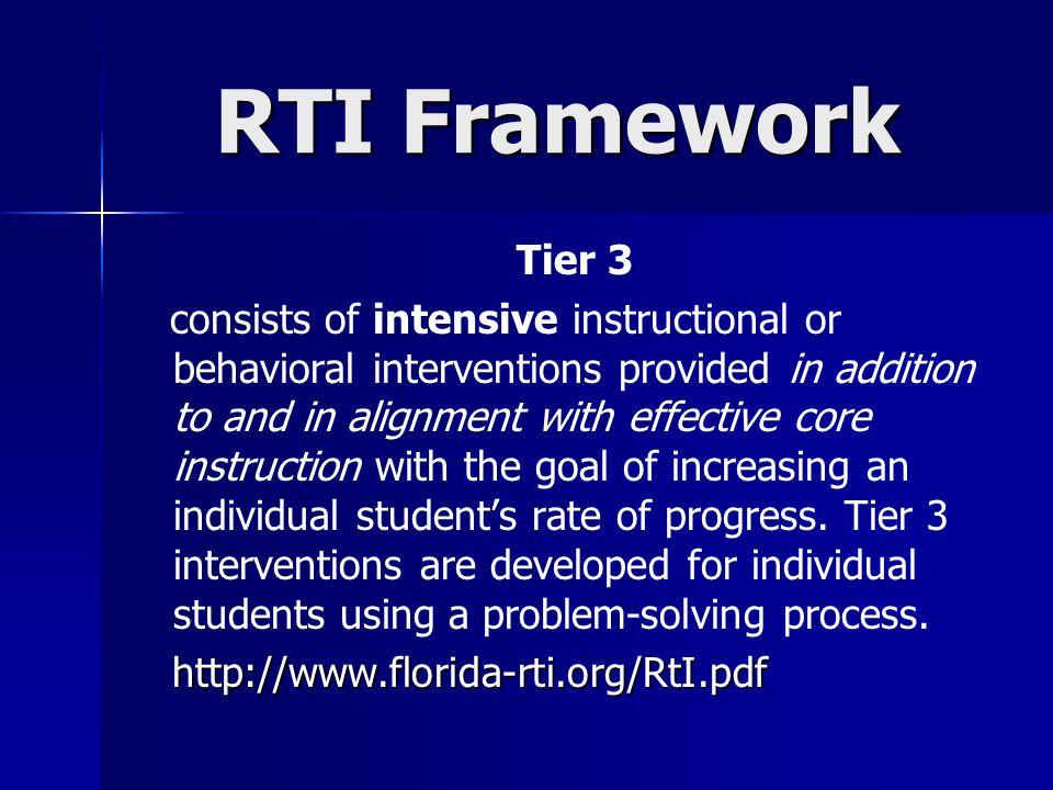 RTI Framework Tier 3.