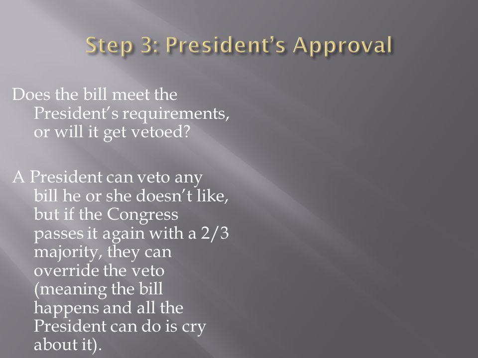Step 3: President's Approval