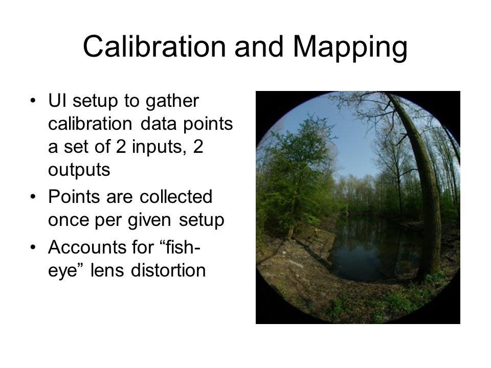 Calibration and Mapping