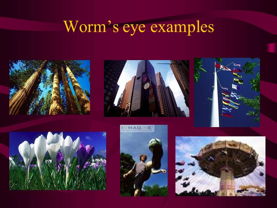 Worm's eye examples