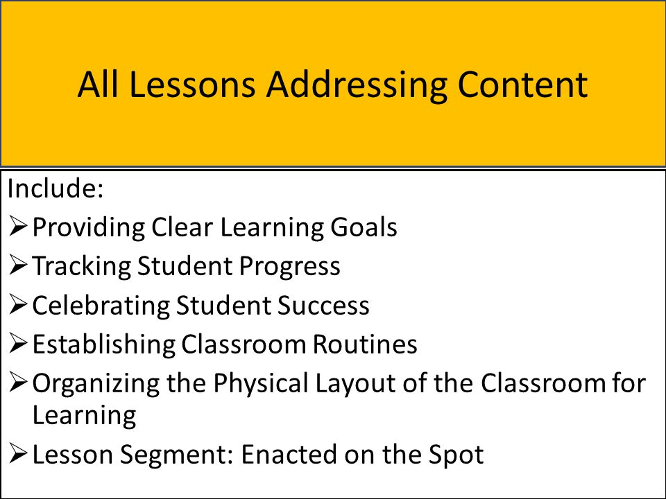 All Lessons Addressing Content