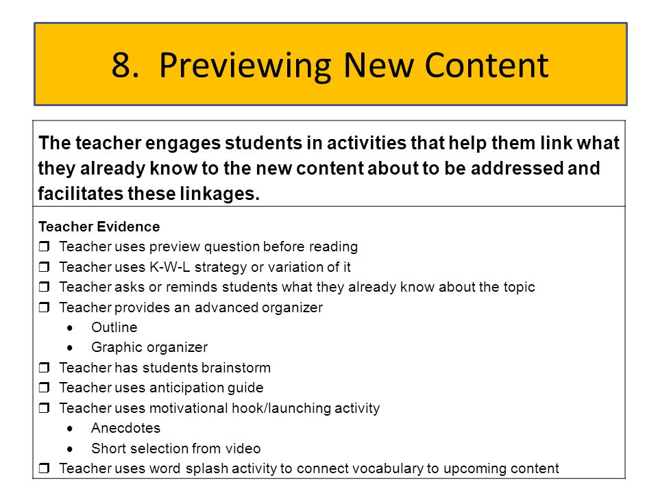 8. Previewing New Content